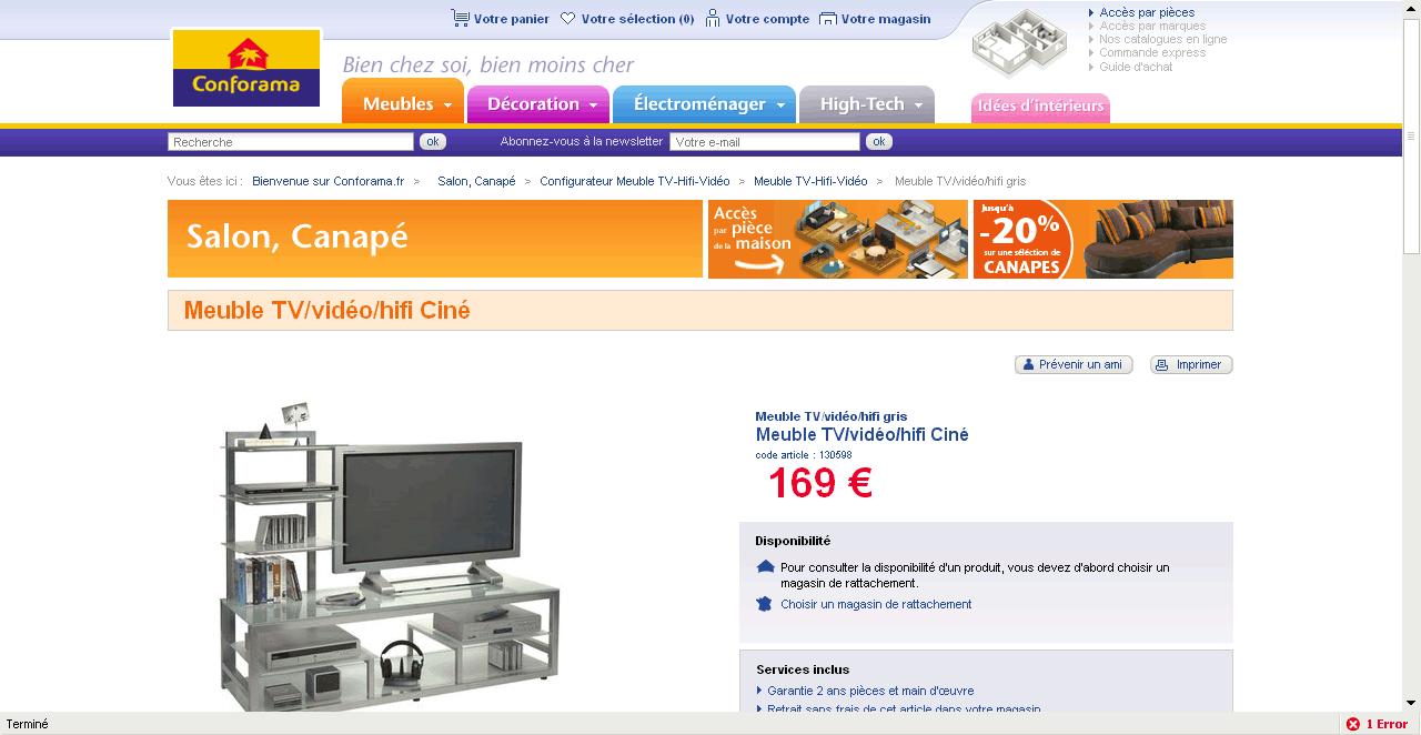 Conforama Fr Un Site E Commerce Renaud Perrin # Conforama Fr Meuble Tv